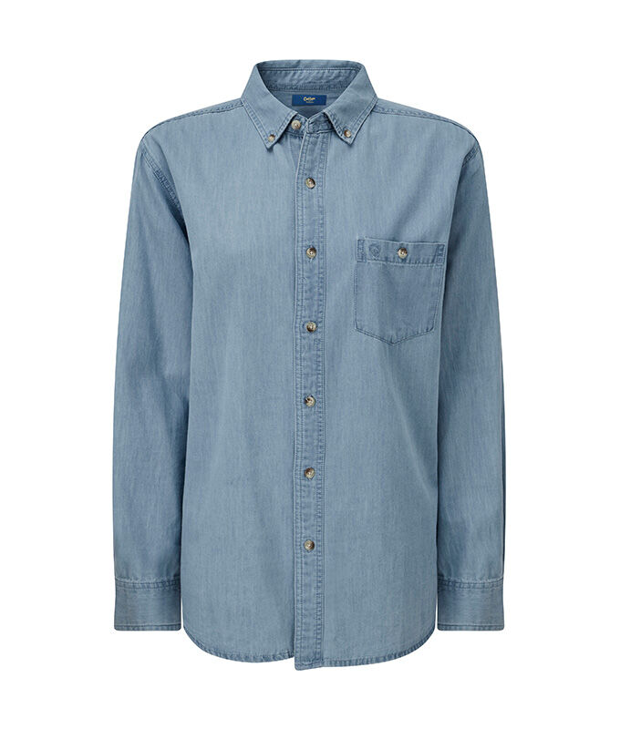 The Colourblock Jumper | Long Sleeve Denim Shirt | By Cotton Traders