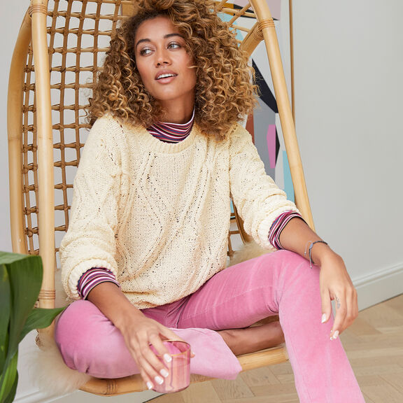 The Comfy Cable Jumper | By Cotton Traders
