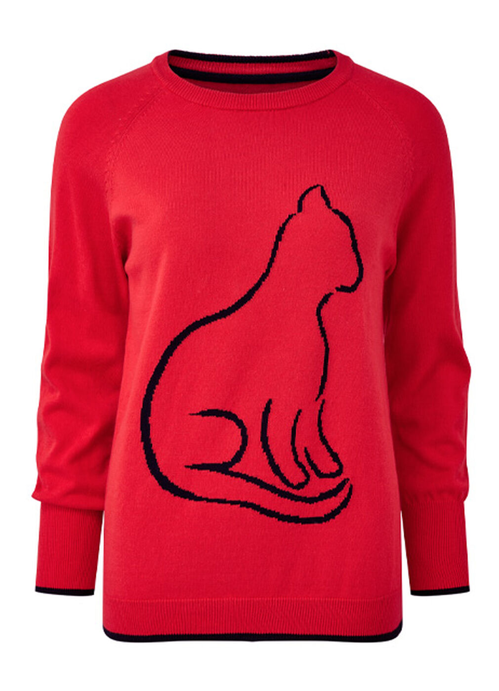 The Friday Blazer | Novelty Cat Jumper | By Cotton Traders