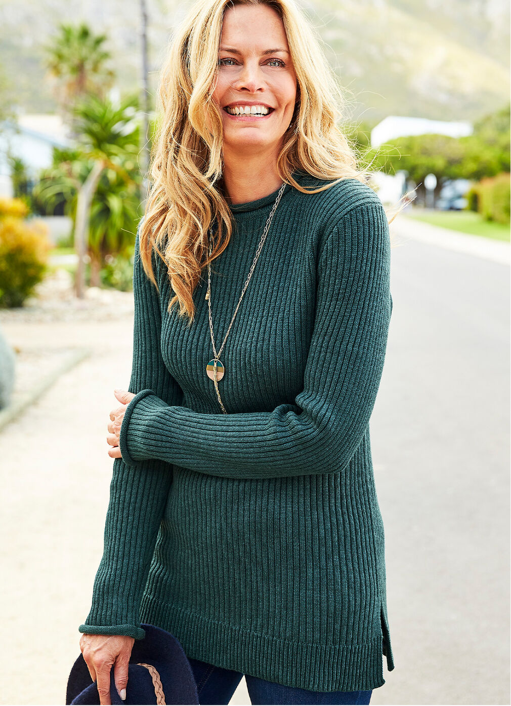 Inspirational Cashmere Knitwear | Knitted Tunic | By Cotton Traders