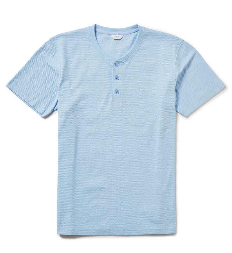 Our Organic Collection   Short Sleeve Grandad Organic T-shirt   By Cotton Traders