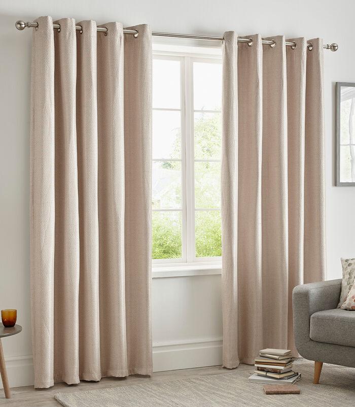 Herringbone Blockout Eyelet Curtains