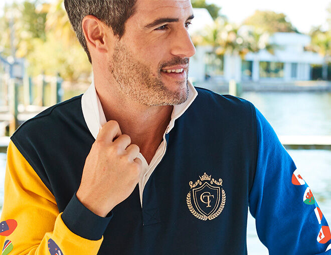 Inspire Me | Trending Categories | Men's Rugby Clothes | Long Sleeve Rubgy Shirt | By Cotton Traders