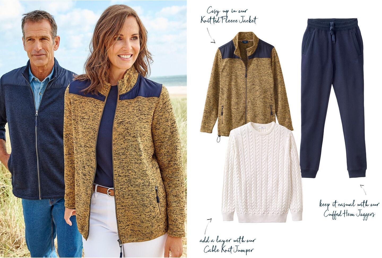Farndale Knitted Fleece Jacket