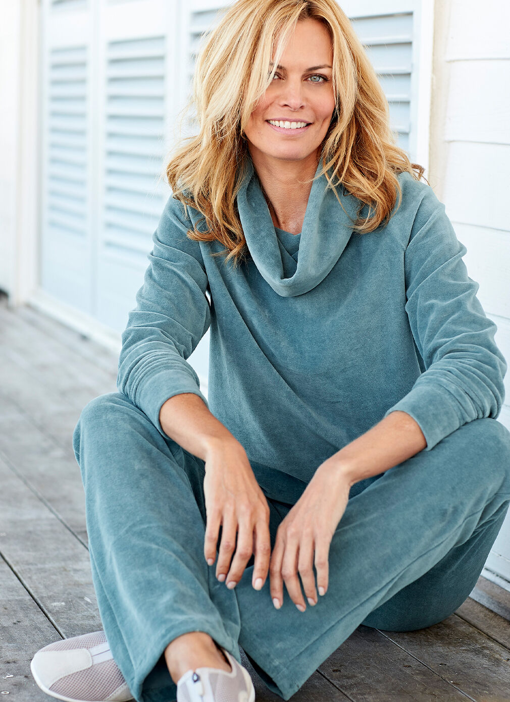 Comfort Collection Inspirations | Velour Pull-on Trousers | By Cotton Traders