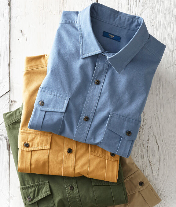 Great Outdoors | Long Sleeve Field Shirt | By Cotton Traders