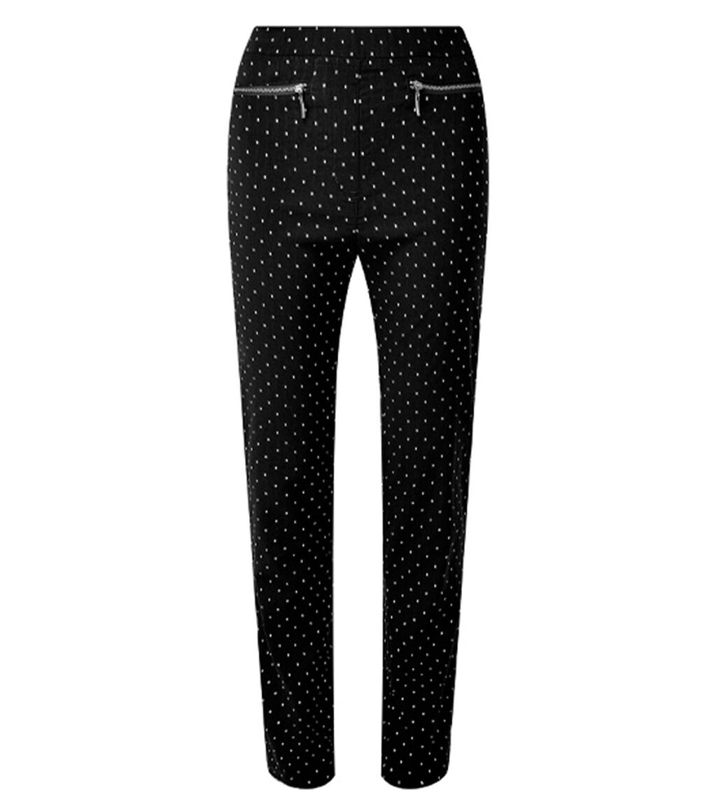 The Friday Blazer | Super Stretchy Jacquard Pull-on Trousers | By Cotton Traders