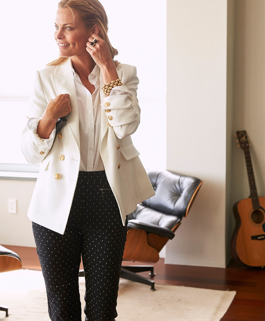 The Friday Blazer | Friday Blazer | Super Stretchy Jacquard Pull-on Trousers | By Cotton Traders