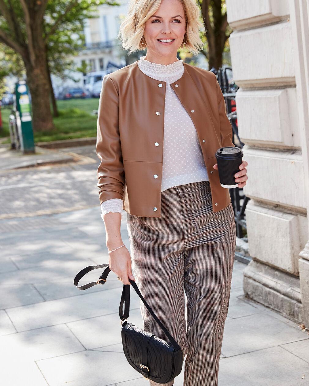 Très Chic Faux Leather Jacket