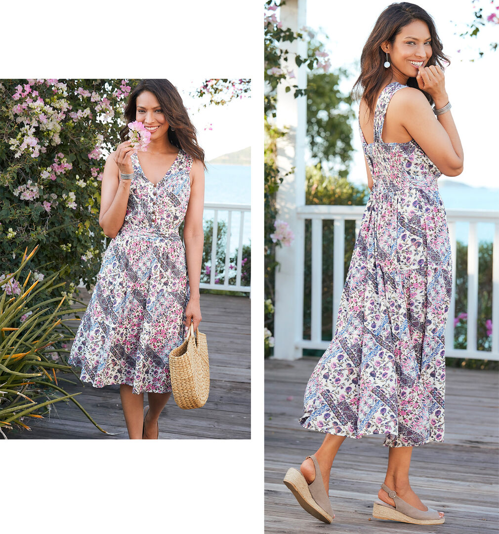 Spring Dresses Inspirations | Crinkle Dress | By Cotton Traders