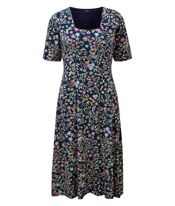 Spring Dresses | Tummy Control Floral Dress | By Cotton Traders