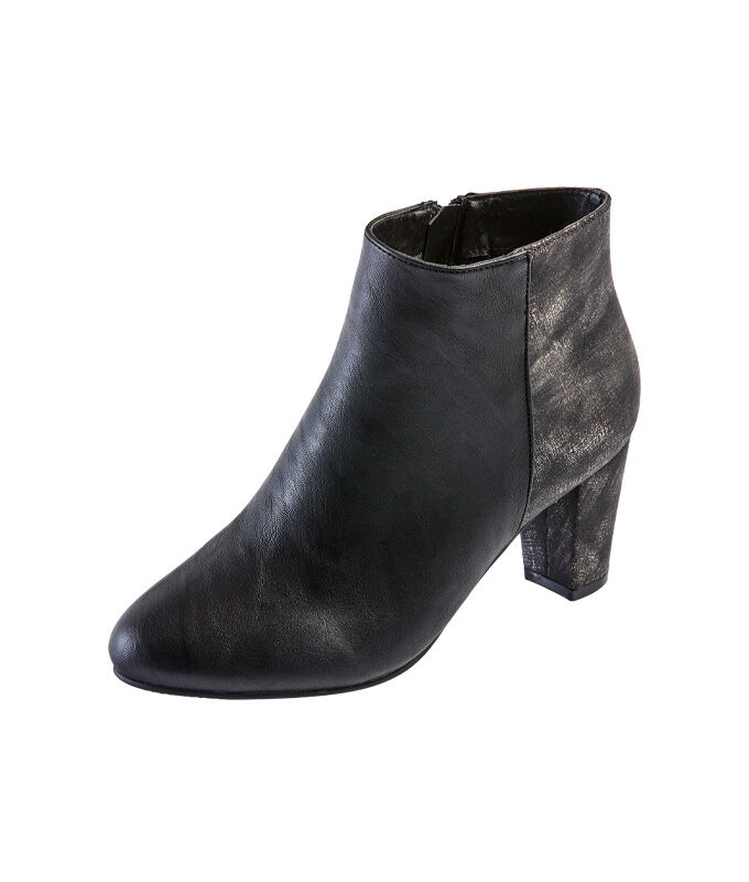 Shimmer Heeled Ankle Boots