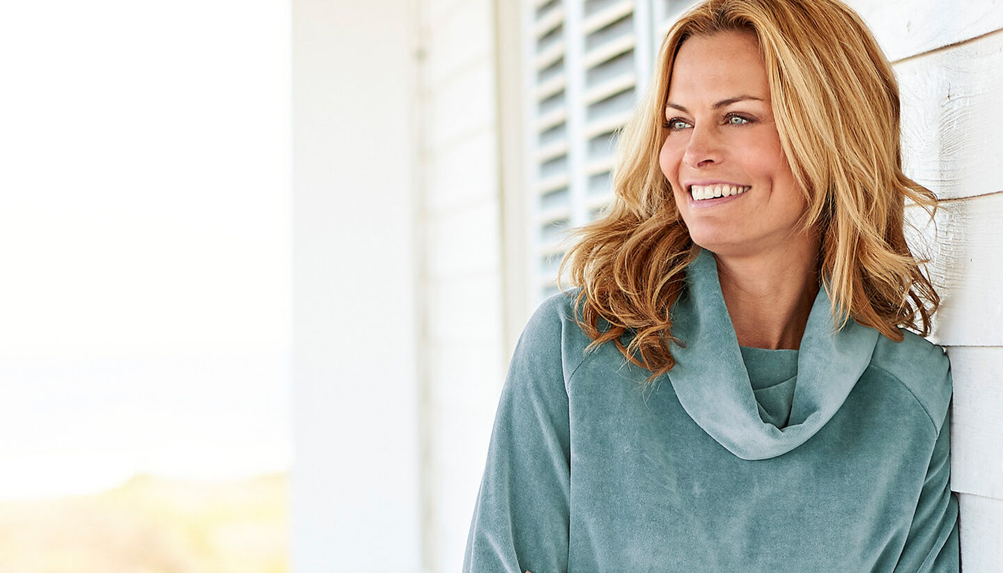 Comfort Collection Inspirations | Velour Cowl Neck Tunic | By Cotton Traders
