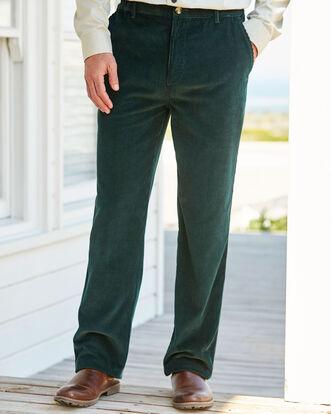 Cord Flat Front Pants