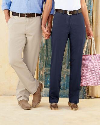 Mens Flat Front Chino Pants