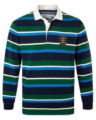 Three Lions Long Sleeve Stripe Rugby Shirt