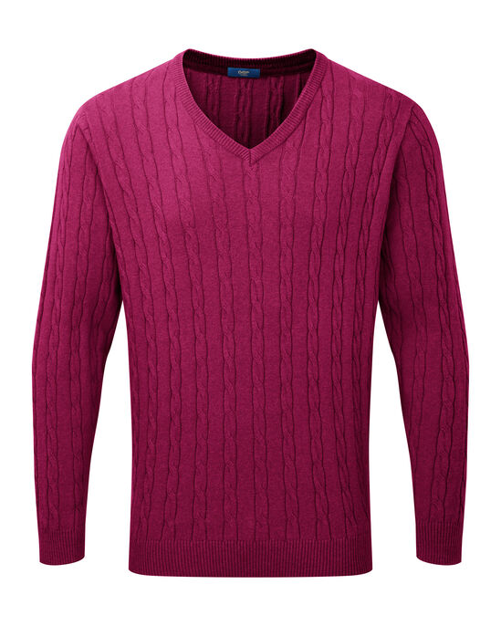 Cotton Cashmere Cable Sweater