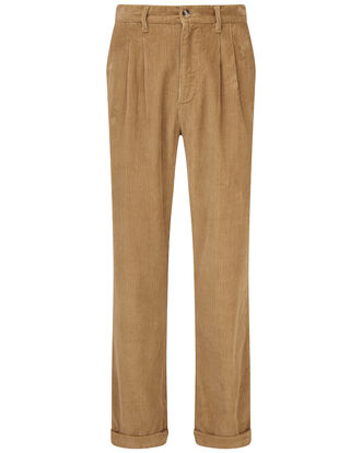 Cord Pleat Front Pants