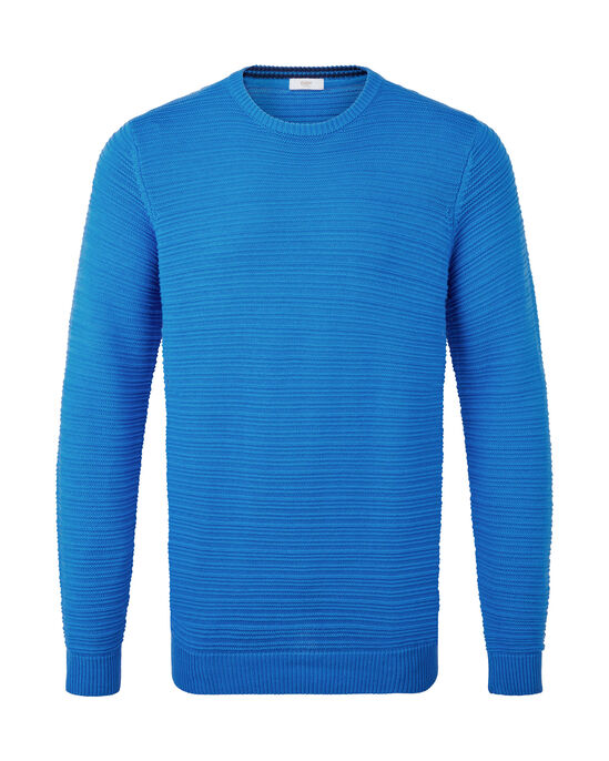 Cotton Crew Neck Textured Sweater