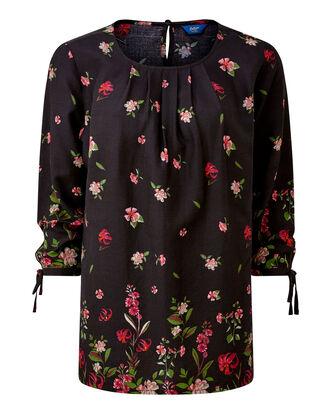 Floral Floral Tie Sleeve Top