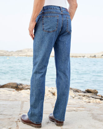 Side Elastic Jeans