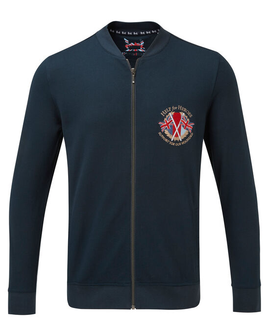 Help For Heroes Embroidered Zip Through Top
