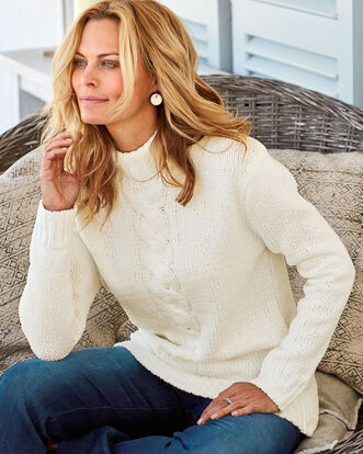 Chenille Cable Sweater