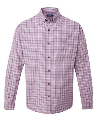 Mauve Long Sleeve Tattersall Twill Check Shirt