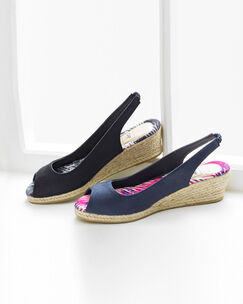 Sling-back Espadrille Wedges