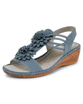 Elastic Flower Sandals