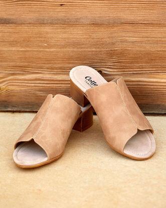 Block Heel Mule Sandals