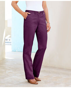 Wrinkle Free Adjustable Waist Pants