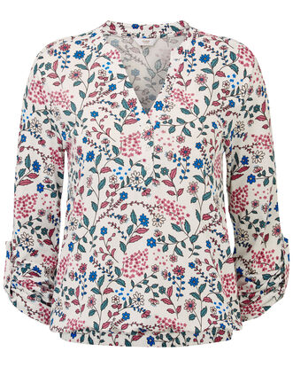 Floral Jersey Blouse