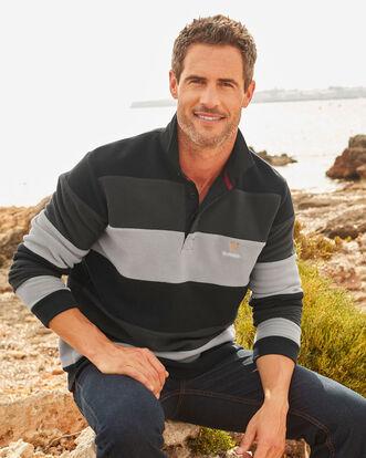 Guinness® Hooped Stripe Fleece Rugby Shirt
