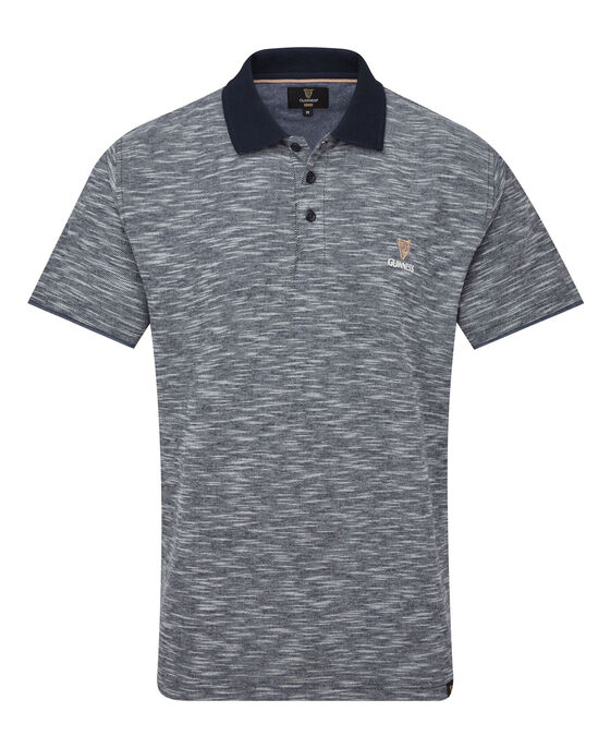 Guinness Chambray Trim Marl Polo Shirt