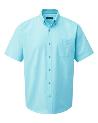 Soft Turquoise Short Sleeve Classic Oxford Shirt