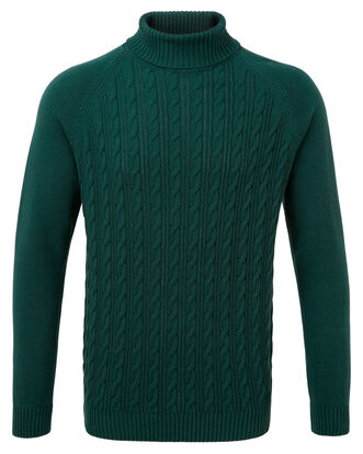 Cotton Cable Turtle Neck Sweater