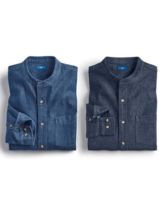 Grandad Denim Shirt