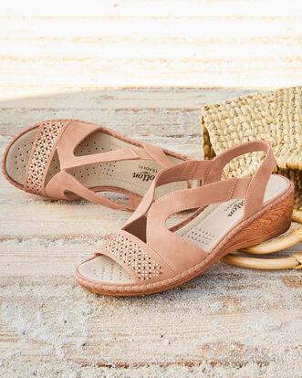 Cutwork Slingback Sandals