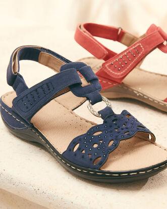 Multi Strap Beaded Sandals