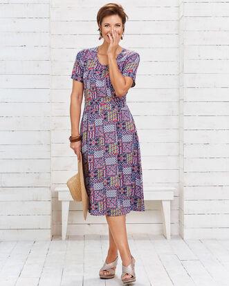 Easywear Print Midi Dress