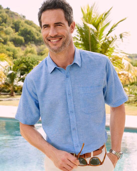 Short Sleeve Linen Cotton Shirt