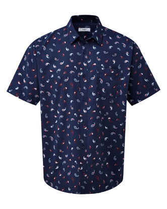 Paisley Print Short Sleeve Soft Touch Shirt