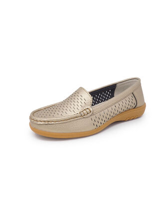 Leather Flexisole Cut Work Loafers