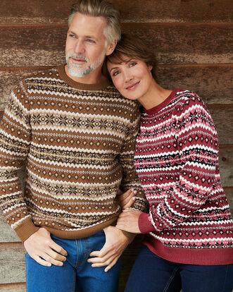 Fair Isle Crew Neck Sweater