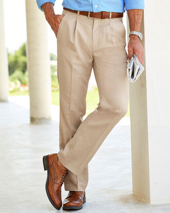Pleat Front Travel Pants