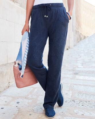 Jersey Jacquard Travel Pants