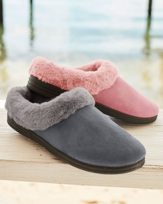 Plush Lined Mule Slippers
