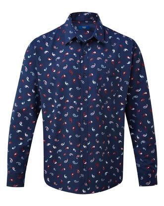 Paisley Print Long Sleeve Soft Touch Shirt