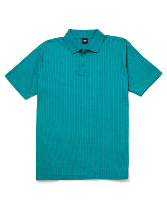 Seersucker Polo Shirt